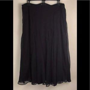 Dialogue Midi Skirt Black Size L